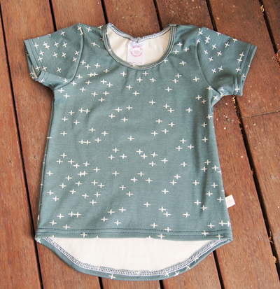 """Taylor"" Tee, 'Wink, Slate' GOTS Organic Cotton, 3 yrs"