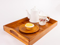 tea and coffee tray - heart rimu