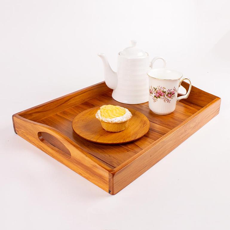tea and coffee tray - heart rimu