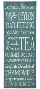TEA NAMES - Plaque 80 x 30cm