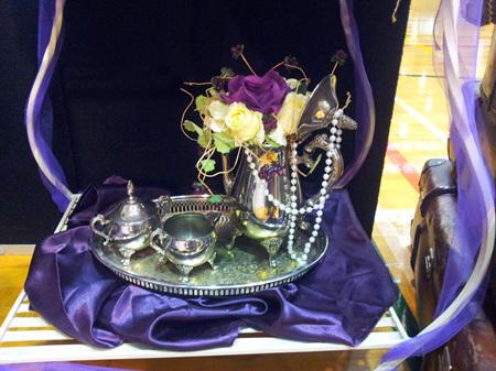 Tea or Coffee Set (Tray, Coffee Pot, Cream, Sugar)