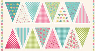 Tea Party Bunting Panel