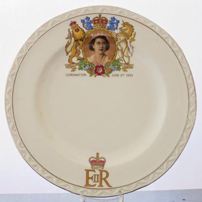 Tea plate Coronation 1953