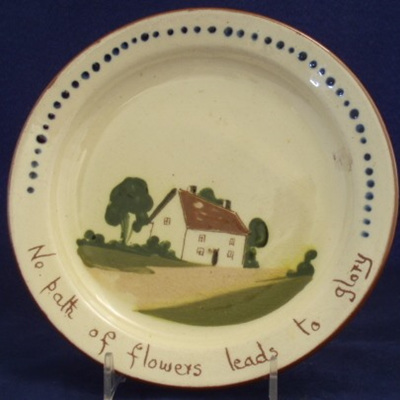 Tea plate Watcombe pottery motto