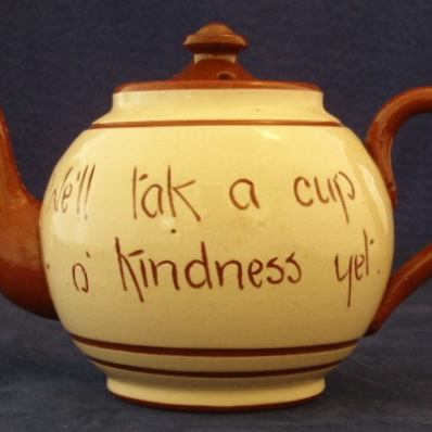 Tea pot motto ware