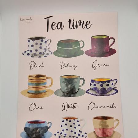 Tea Time A4 Print Framed
