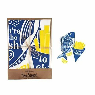 Tea Towel - Fish and Chips