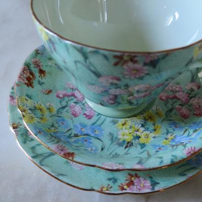 Tea Trios - cup saucer plate