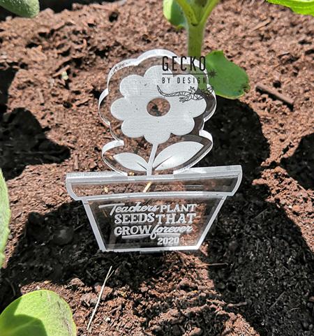 Teacher Flower Plant Stake