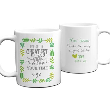 Teacher Greatest Gift Personalised Mug