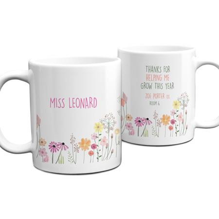 Teacher Help Me Grow Personalised Mug