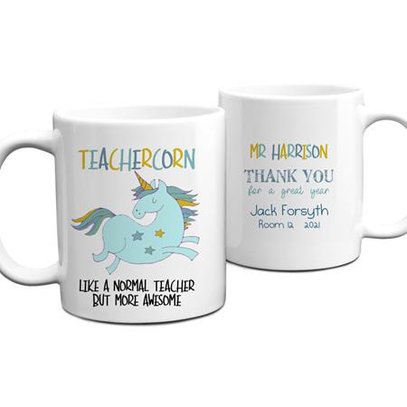 Teachercorn 1 Personalised Teacher Mug