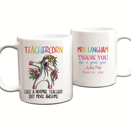 Teachercorn 2 Personalised  Teacher Mug