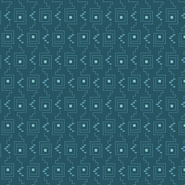 Teal Greek Key A-9136-B