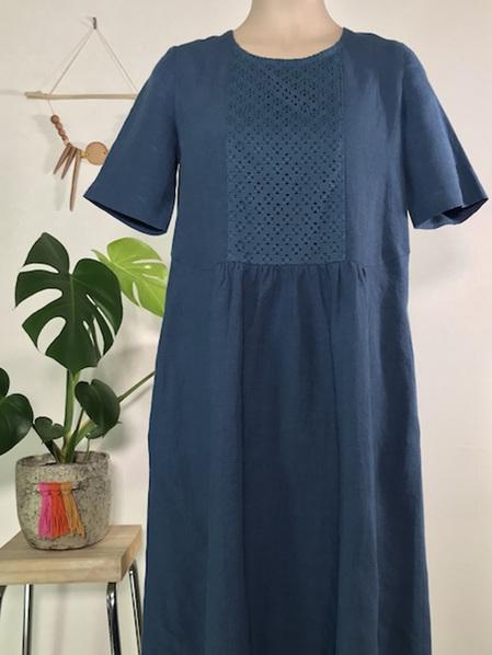 Teal linen Orla dress