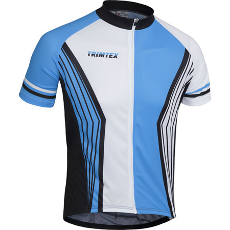 Team Cycling Shirt, White / Blue / Black