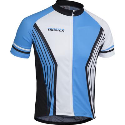 Team Cycling Shirt White/Blue/Black