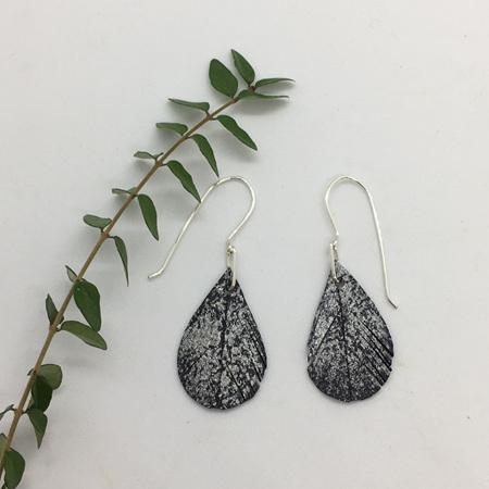 Tear Drop Earrings with Silver