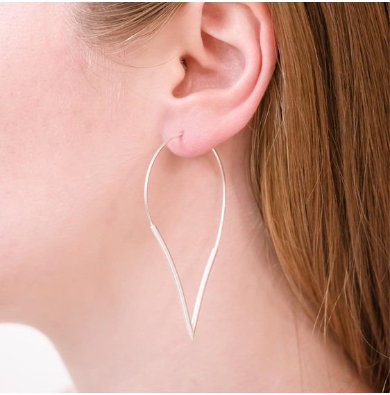 Teardrop Hoop Large Earrings