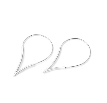 Teardrop Hoop Medium Earrings