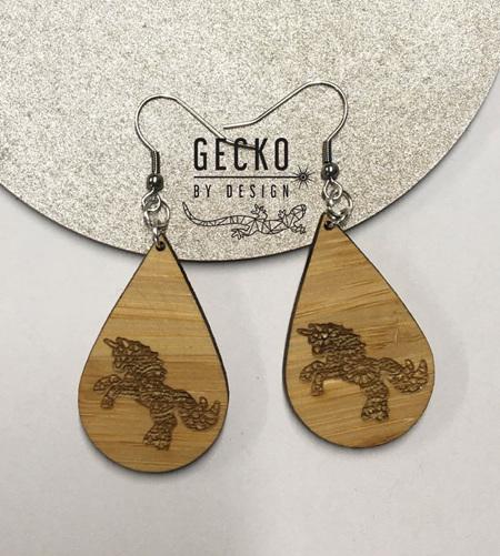 Teardrop Unicorn Earrings