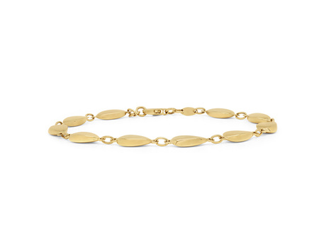 Teardrops Yellow Gold Chain Bracelet