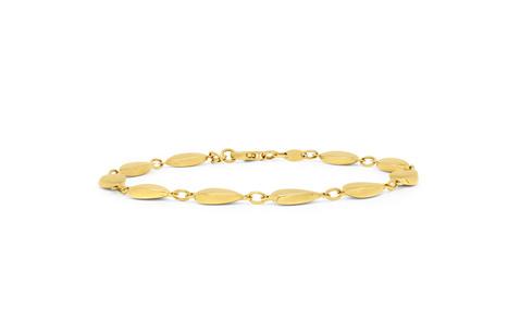 Teardrops Yellow Gold Chain Bracelet