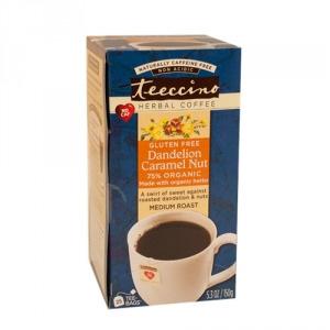 Teeccino 75% Organic Herbal Coffee Dandelion Caramel Nut 25pk