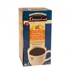 Teeccino 75% Organic Herbal Coffee Dandelion Caramel Nut 25pk