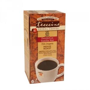 Teeccino 75% Organic Herbal Coffee Dandelion Vanilla Nut 25pk