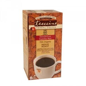 Teeccino 75% Organic Herbal Coffee Dandelion Vanilla Nut 25pk