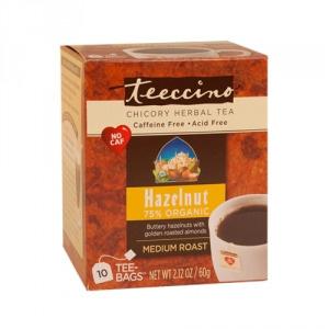 Teeccino 75% Organic Herbal Coffee Hazelnut 10pk