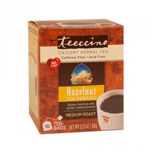 Teeccino 75% Organic Herbal Coffee Hazelnut 10pk