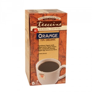 Teeccino 75% Organic Herbal Coffee Orange  25pk