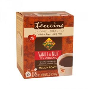 Teeccino 75% Organic Herbal Coffee Vanilla Nut 10pk