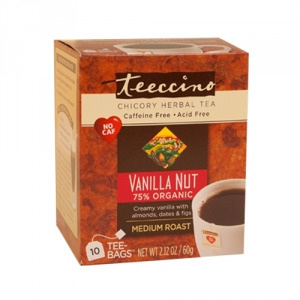 Teeccino 75% Organic Herbal Coffee Vanilla Nut 10pk
