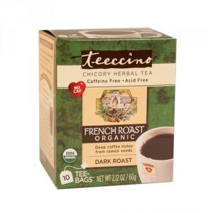 Teeccino Organic Chicory Herbal Tea French Roast 10pk