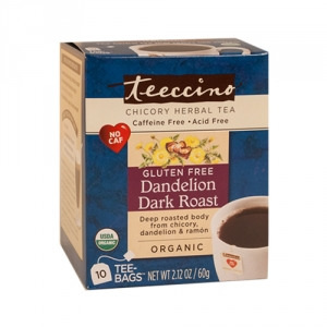 Teeccino Organic Herbal Coffee Dandelion Dark Roast 10pk