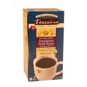 Teeccino Organic Herbal Coffee Dandelion Dark Roast 25pk