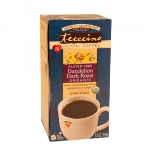 Teeccino Organic Herbal Coffee Dandelion Dark Roast 25pk