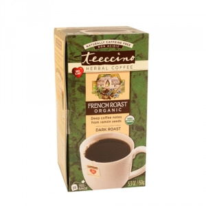 Teeccino Organic Herbal Coffee French Roast 25pk