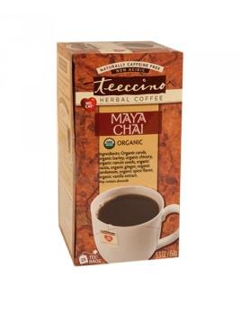 Teeccino Organic Maya Herbal Coffee Chai 25pk