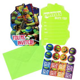 Teenage Mutant Ninja Turtle Invites