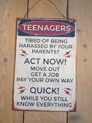 Teenagers Tin Sign