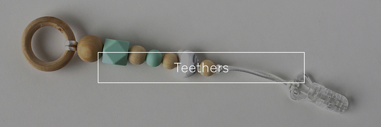 Teethers for babies, designed and made in New Zealand.