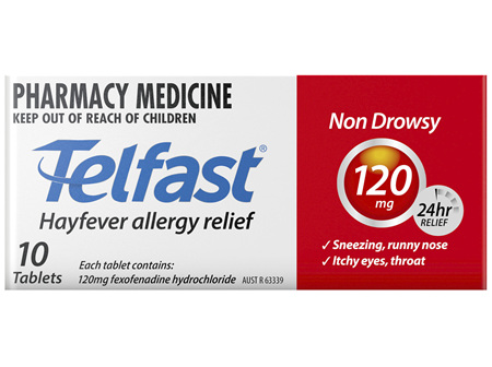 Telfast 120mg 10 Tablets