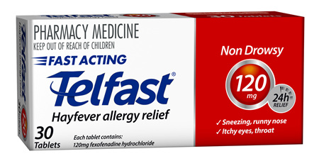 Telfast 120mg tablets - 30 tablets
