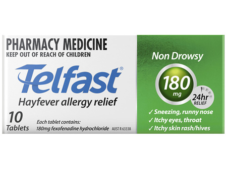 Telfast 180mg 10 Tablets