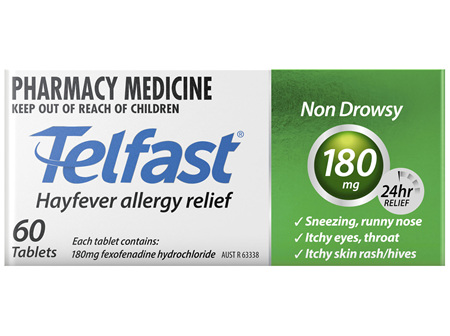 Telfast 180mg 60 Tablets