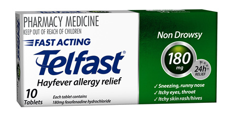Telfast 180mg tablets - 10 tablets